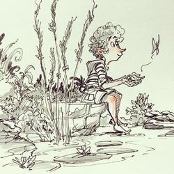 Random doodle #doodle #draw #drawing #pen #sketchboek #sketchbook #artist #art #illustration #concep