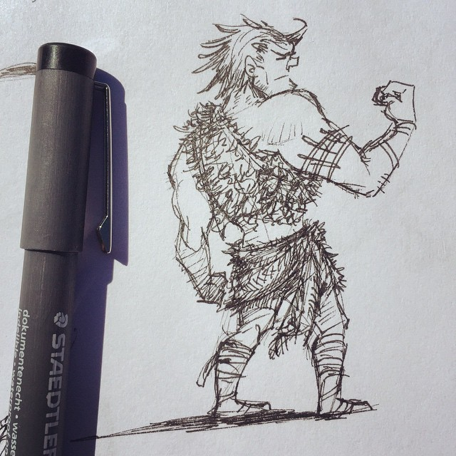 Doodling cavemen today  #sketch #sketchbook #draw #drawing #doodle #illustration #design #characterd