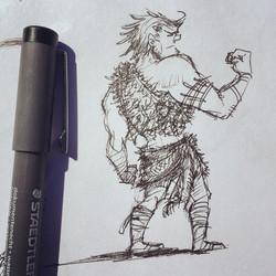 Doodling cavemen today  #sketch #sketchbook #draw #drawing #doodle #illustration #design #characterd