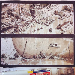 2 out of many workbook sketches I've been working on for a personal project _) #marker #pen #correct