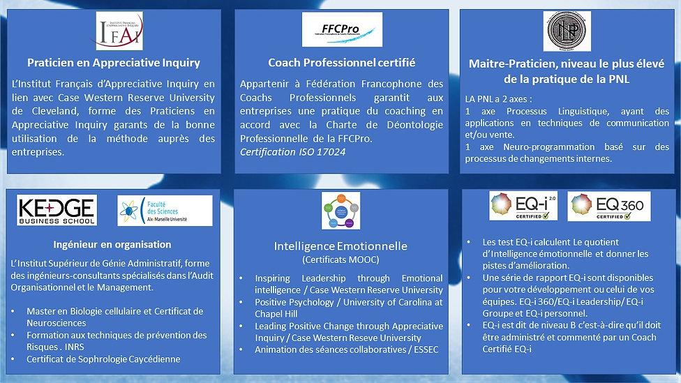 Bruo Gégoi Certifications et fomations compétences coach