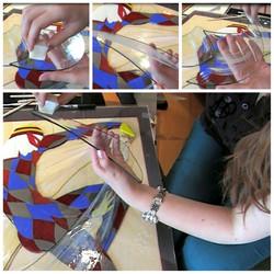 Процесс декорирования стекла