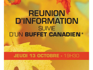 Buffet canadien- réunion d'information