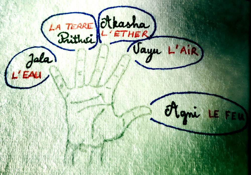 Les 5 éléments au bout des doigts