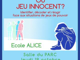 Conférence: Harcèlement ou jeu innocent?