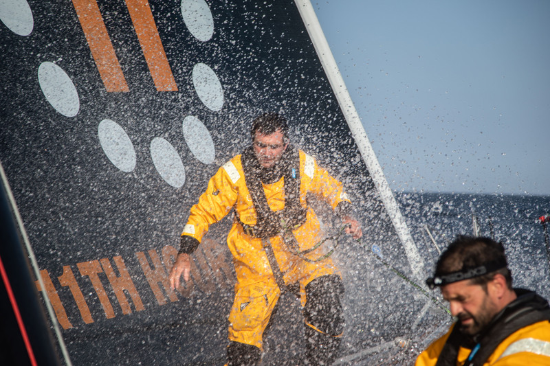Charlie Enright and Pascal Bidégorry sailing in the 2019 Défi Azimut 48-hour race.