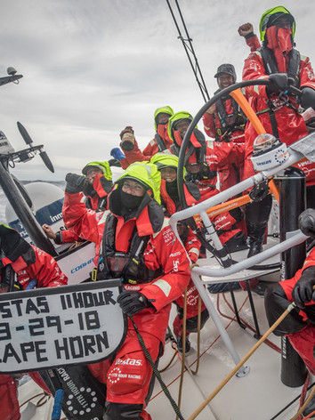 Rounding the iconic Cape Horn in the 2017-18 Volvo Ocean Race