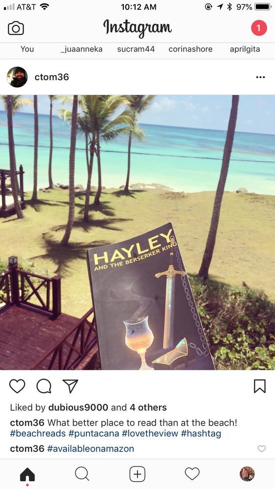 Had to screenshot this Instagram post and share it. Beautiful view and great choice in reading mater