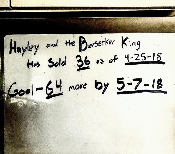 Goal for Hayley and the Berserker King-before 5/7/18