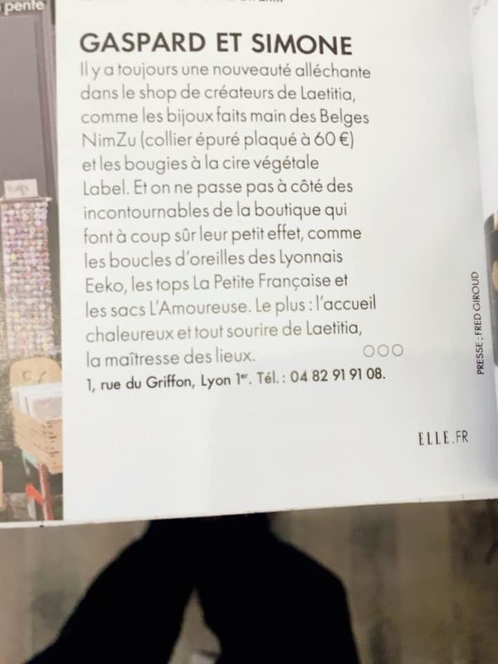 Article Gaspard&Simone
