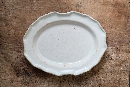18世紀 ムスティエ オーバル皿