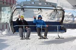 Skigebied Warth hij gaat lekker