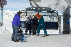 Met de stoeltjeslift naar 2100 meter