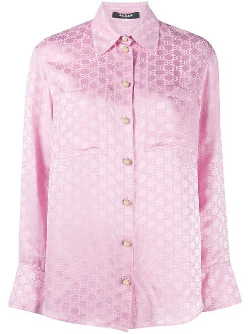 BALMAIN jacquard-woven shirt