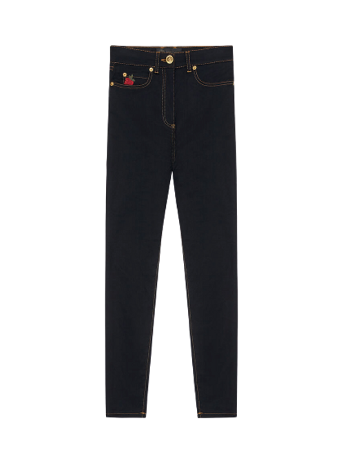 EMBROIDERED ROSES JEANS