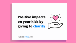 3 positive impacts on your kids from giving to charity!