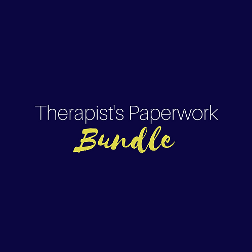 Therapist's Paperwork Bundle