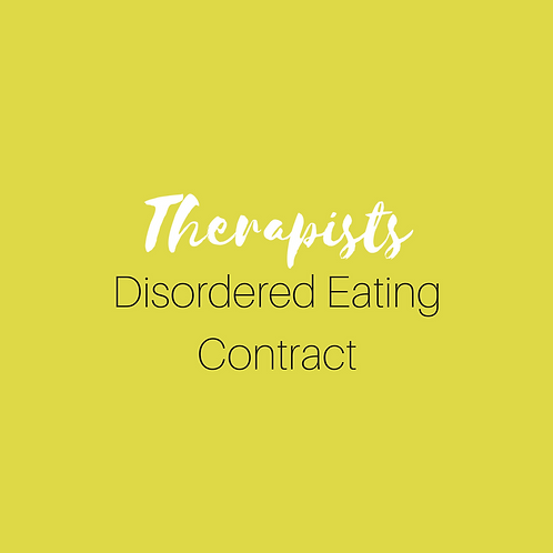 Disordered Eating Contract