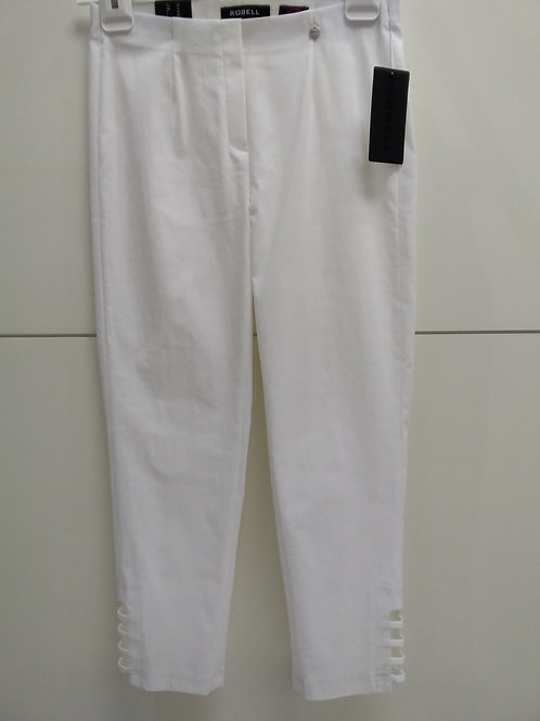 White Slim fit Lena 3/4 length with detail at end