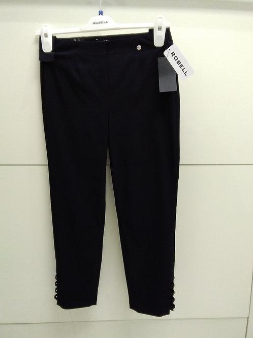 Black slim fit Lena 3/4 length with detail on end