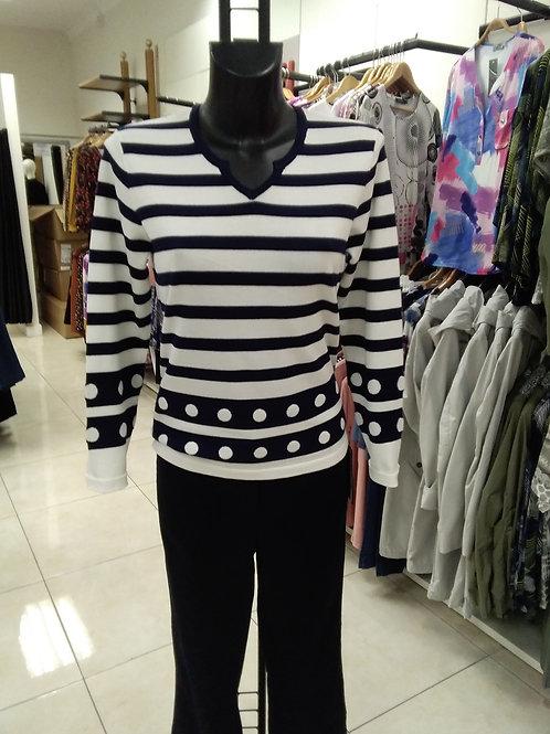 Navy striped jumper