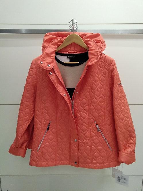 Orange light padded jacket