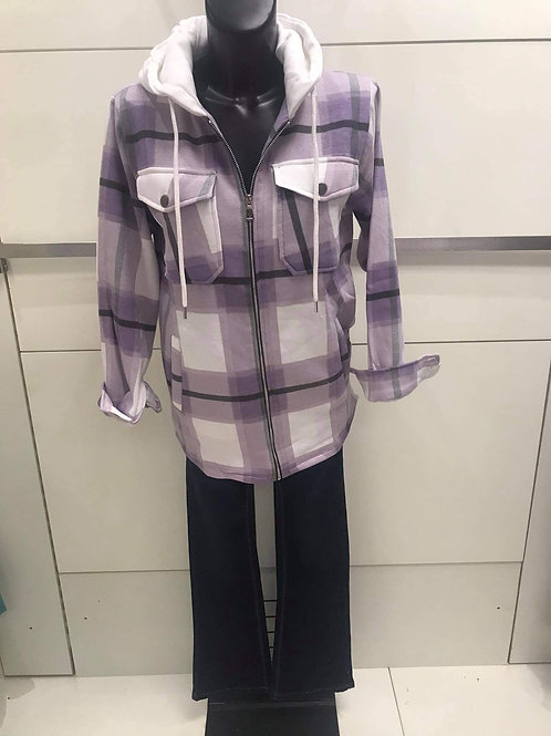Mauve check shirt/jacket