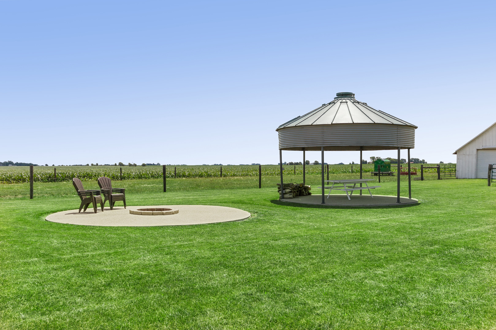 Gazebo and Fire Pit