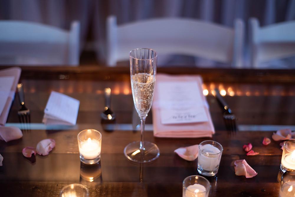 Wedding reception head table