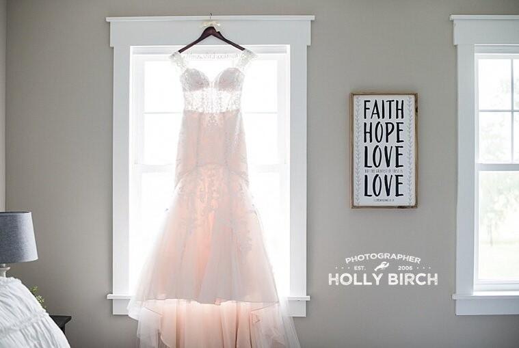 Wedding prep dress