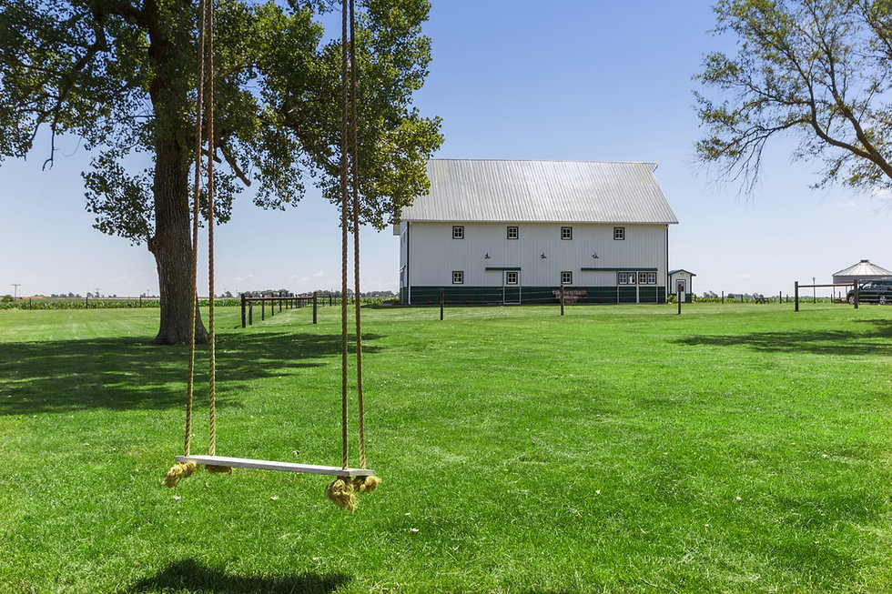 The Barn at Woodworth with swing