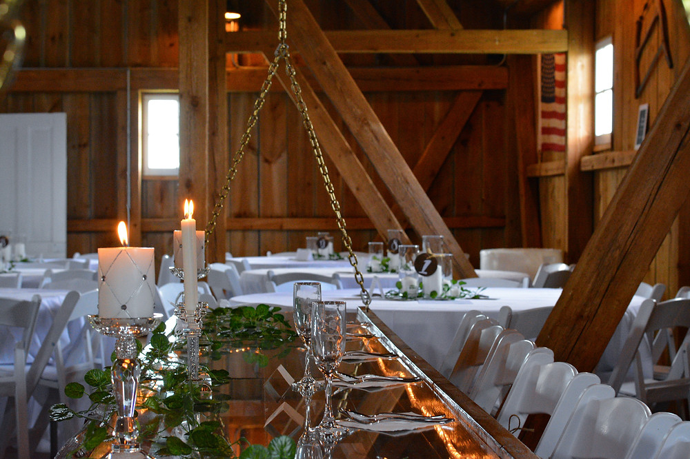 The Barn at Double K Ranch rustic head table