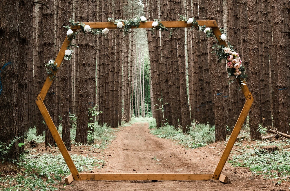 Outdoor Woods Wedding Arch