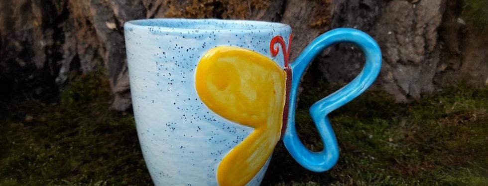 Tasse-Schmetterling 10x11,5 hoch