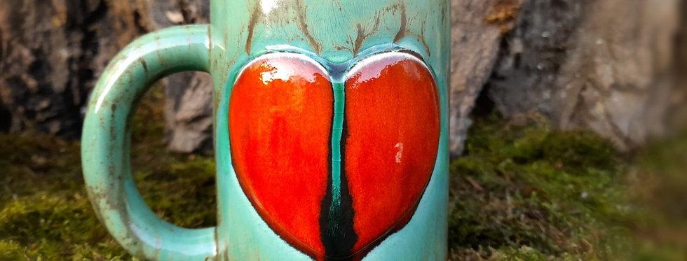 Tasse- Herz 8,5 x 10,5 cm
