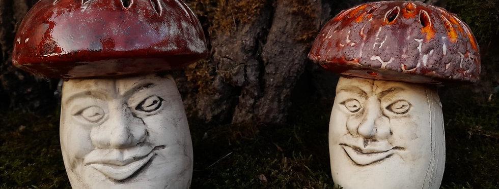 Pilz mit Gesicht, zum beleuchten, ca 14 cm Höhe