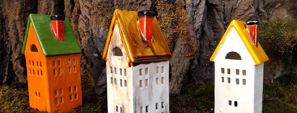 Häuser zum beleuchen 6,5x7x18 cm