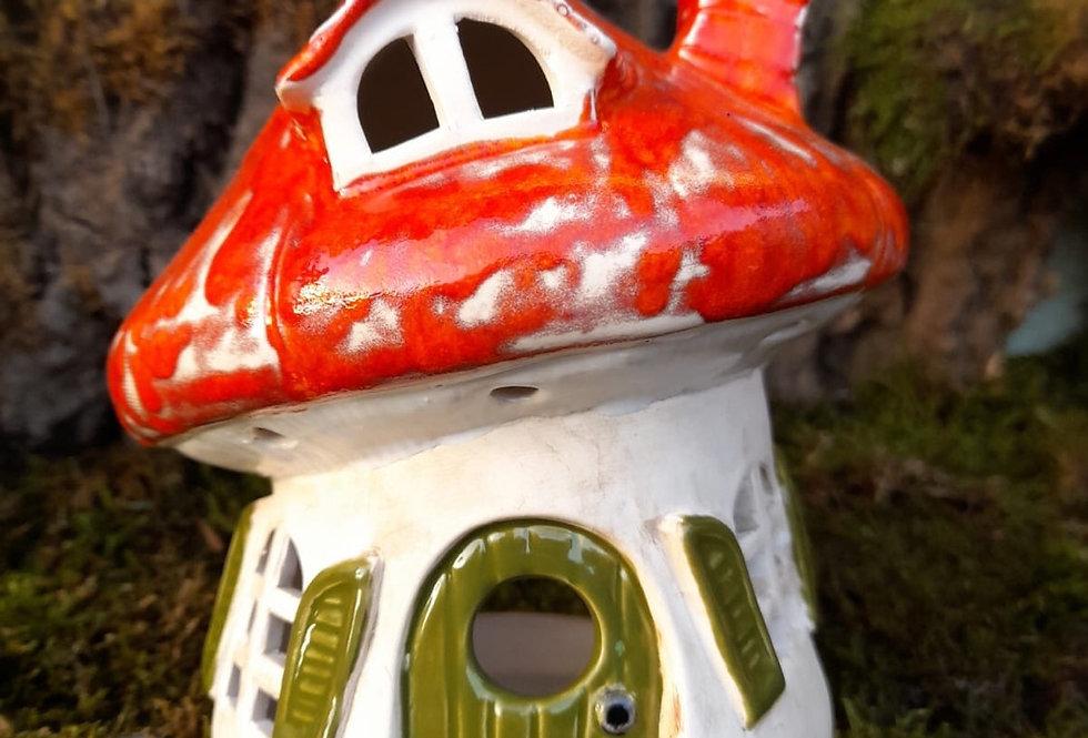 Trollhaus zum beleuchten 13x15 cm