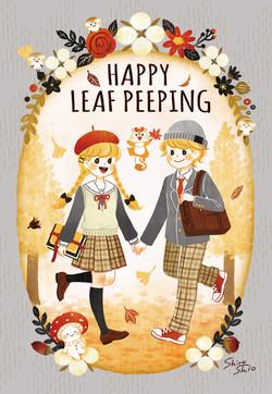 HAPPY LEAF PEEPING