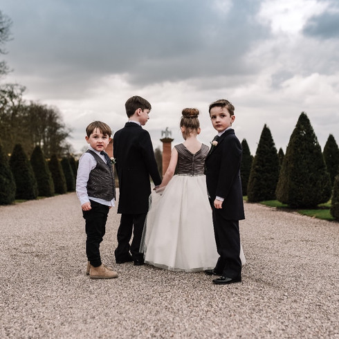 Page Boys and Flower Girls at Knowsley Hall