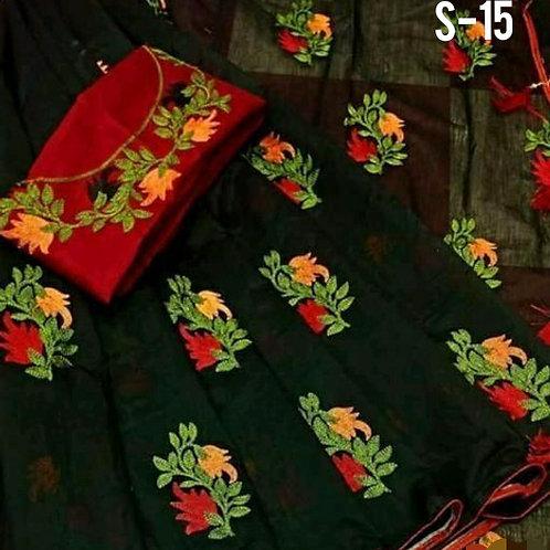 Beautiful Chanderi Silk Embroidered Regular Sarees