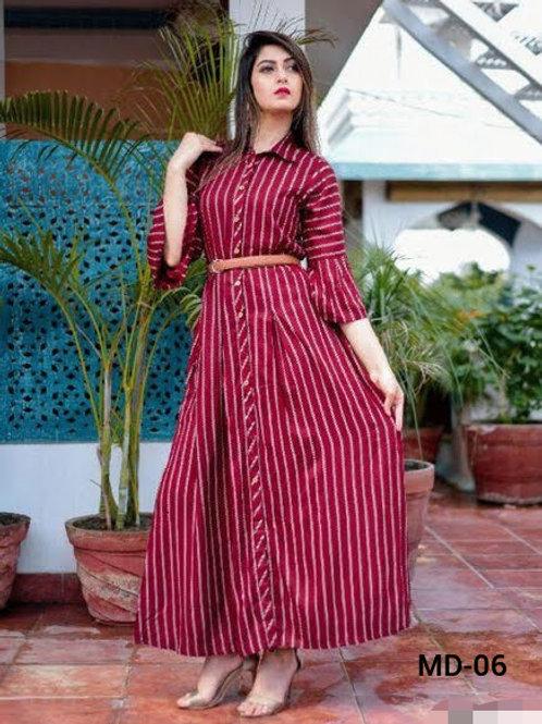 Women's Crepe stripe dress