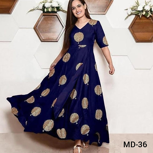 Women's Rayon Printed Gowns