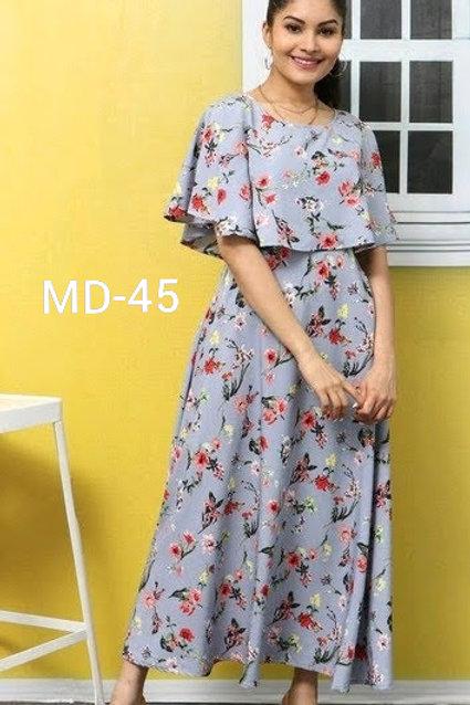Women's American Crepe Maxi Dresses