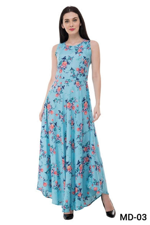 Crepe Maxi Dress for Women