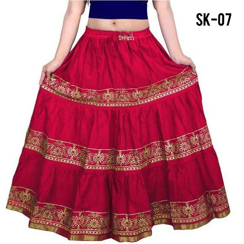Women's Simple Cotton Printed Skirts