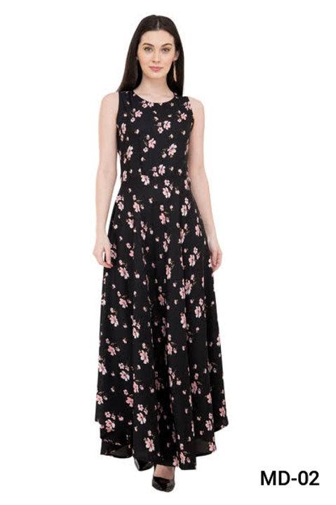 Crepe Maxi Dress for Women