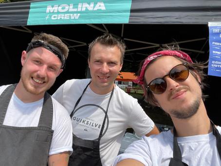 Molina + Crew na Moravě part I. aneb tři kluci co moc nespali a hodně smažili.