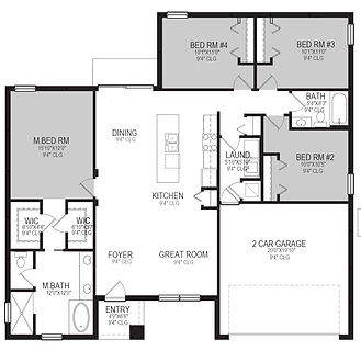 Floor-Plan ONLY Model 1667 Poinciana Vil