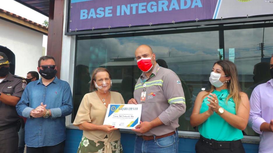 Inauguração da base de segurança em cajueiro